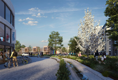 Cheshunt Lakeside will provide a number of local amenities including public landscaped spaces